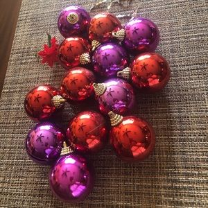 Vintage 13 Plastic Christmas Ornaments